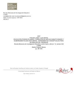 Revista Mexicana de Investigación Educativa. Educación