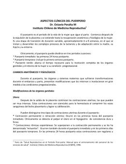 aspectos clinicos del puerperio - ICMER
