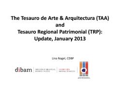The Tesauro de Arte & Arquitectura (TAA) Tesauro de
