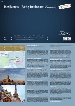 Este Europeo - París y Londres con Encanto desde