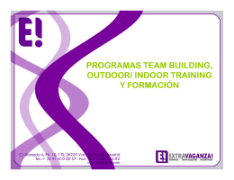 programas team building, outdoor/ indoor training y formaci y