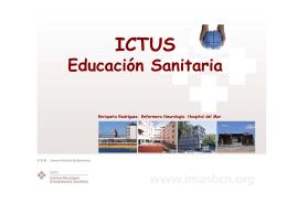 ictus educación sanitaria