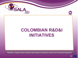 Colombian project ideas