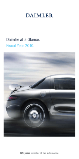 Daimler at a Glance. Fiscal Year 2010.