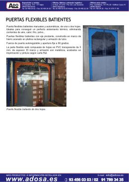 Descargar información detallada puertas flexibles batientes