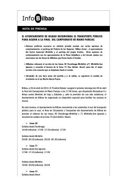el ayuntamiento de bilbao recomienda el transporte