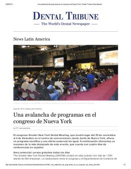 Una avalancha de programas en el congreso de Nueva York