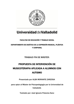 PROPUESTA DE INTERVENCIÓN DE MUSICOTERAPIA