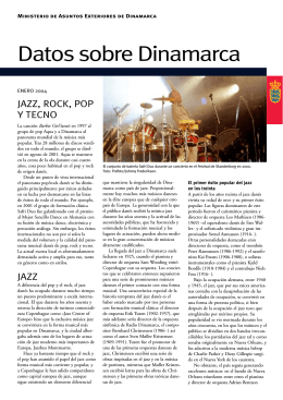 Datos sobre Dinamarca Jazz, Pop, Rock y Tecno