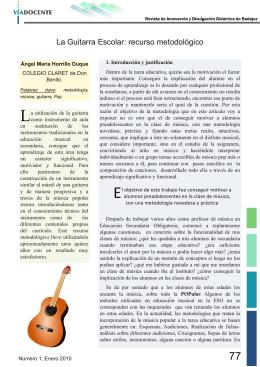 La Guitarra Escolar: recurso metodológico