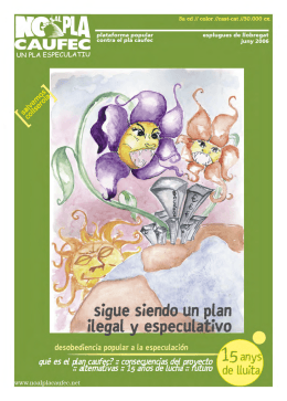 Revista 3a edició - No al Pla Caufec