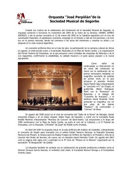 """Orquesta """"José Perpiñán""""de la Sociedad Musical"""