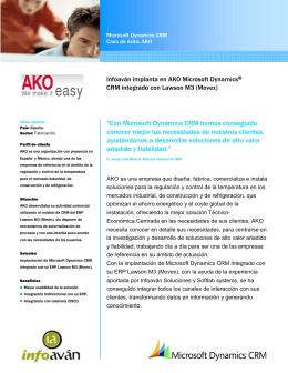 Infoaván implanta en AKO Microsoft Dynamics CRM integrado con