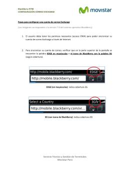 Configuración correo Exchange