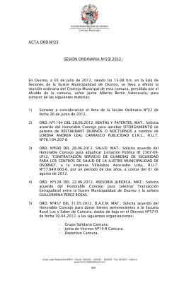 23-2012 - Ilustre Municipalidad de Osorno