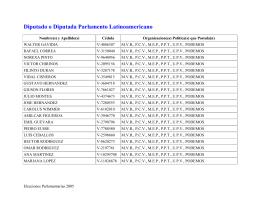 Gacetilla Electoral del Parlamento Latinoamericano y del