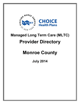 Provider Directory Monroe County