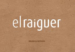 Catálogo El Raiguer