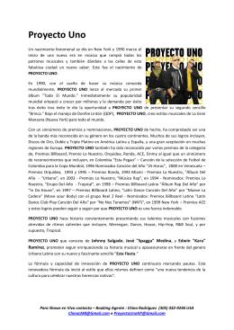 Proyecto Uno (Bio-Spanish/English version)