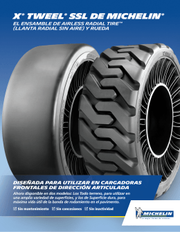 Descargue una hoja de datos - Michelin Tweel Technologies