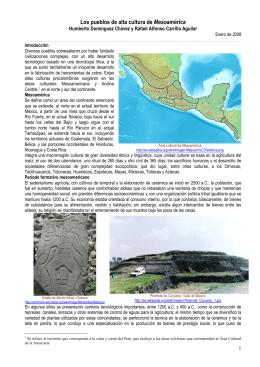 Los pueblos de alta cultura de Mesoamérica