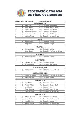 Clasificaciones Catalunya 2014