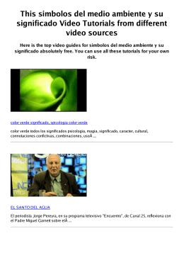 #Z simbolos del medio ambiente y su significado PDF