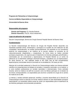 Programa de Fellowship en Coloproctología Carrera de Médico