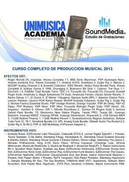 MATERIALES DEL CURSO PRODUCCION MUSICAL UNIMUSICA