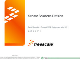 FREESCALE - Tutorial de Sensores