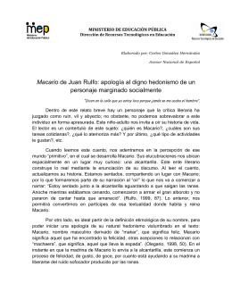 Macario de Juan Rulfo: apología al digno hedonismo de un