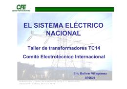 EL SISTEMA ELÉCTRICO NACIONAL