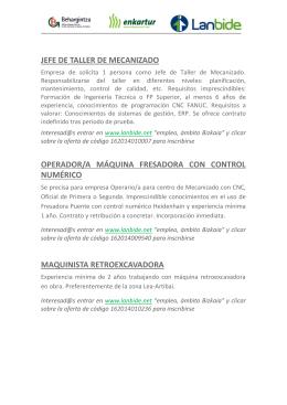 Ofertas de empleo del 05-12