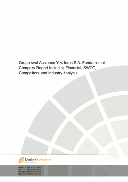 Grupo Aval Acciones Y Valores S.A. Fundamental Company Report