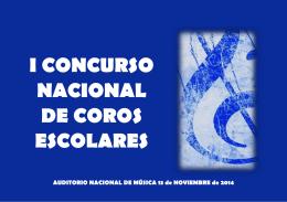 I CONCURSO NACIONAL DE COROS ESCOLARES