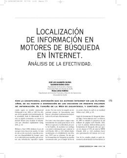 localización de información en motores de búsqueda entre internet