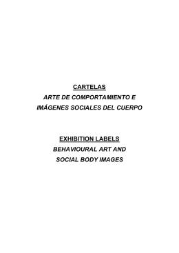 CARTELAS ARTE DE COMPORTAMIENTO E IMÁGENES