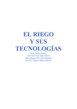 EL RIEGO Y SUS TECNOLOGÍAS