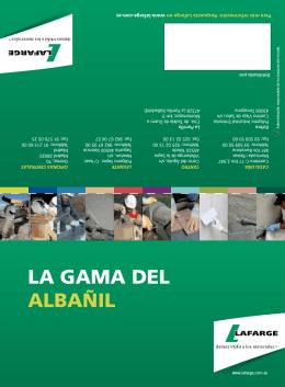 LA GAMA DEL ALBAÑIL