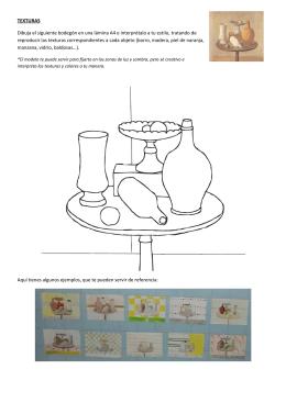 TEXTURAS Dibuja el siguiente bodegón en una lámina A4 e