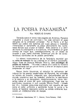 LA POESIA PANAMESTA* - Memoria Centroamericana