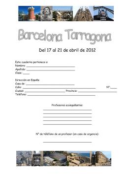 Del 17 al 21 de abril de 2012