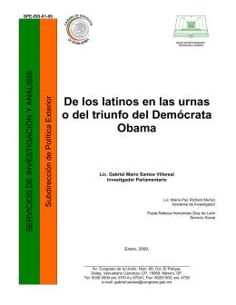De los latinos en las urnas o del triunfo del Demócrata Obama