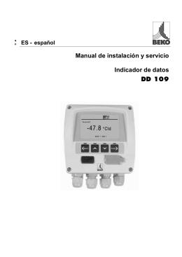 Manual de instalación y servicio Indicador de datos DD 109