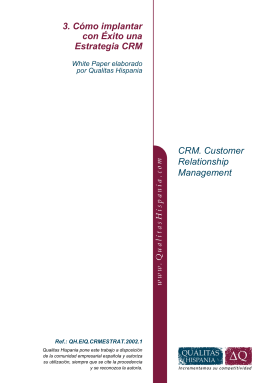 CRM. Customer Relationship Management 3. Cómo implantar con