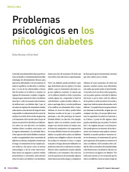 Problemas psicológicos en los niños con diabetes