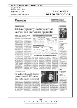 Ver noticia publicada por La Gaceta de los Negocios