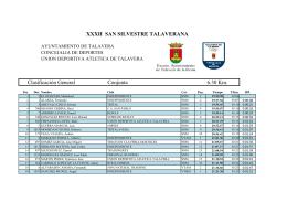 Clasificación General Conjunta 6.30 Km. XXXII SAN SILVESTRE