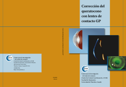 Corrección del queratocono con lentes de contacto GP