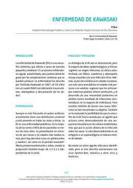 13. Enfermedad de Kawasaki - Asociación Española de Pediatría